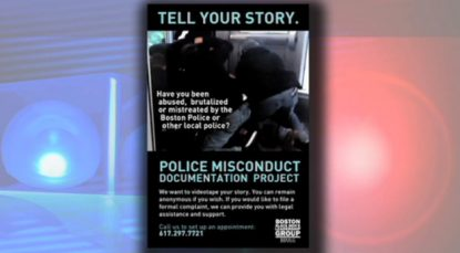 Blackstonian on Greater Boston WGBH. Apr. 25, 2011: A controversial flier on police brutality