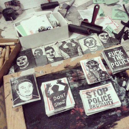 Sticker Making Party: Using Art to Advocate for Justice, Police Accountability and Victims of Police Brutality