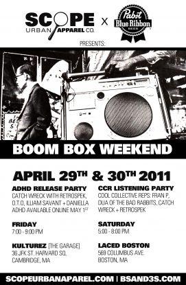 Boom Box Weekend