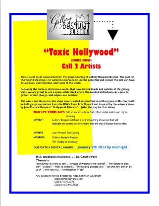 Toxic  Hollywood – Call for Young Artists