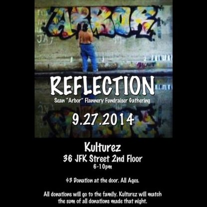 """Refelction: Sean """"Arbor"""" Flannery Fundraiser / Tribute"""