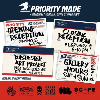 Priority Made: Jan 5 – Feb 9 at Dorchester Art Project